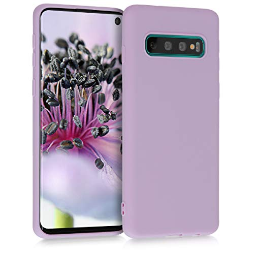 kwmobile Cover Compatibile con Samsung Galaxy S10 - Custodia in Silicone TPU - Backcover Protezione Posteriore- Malva Pastello