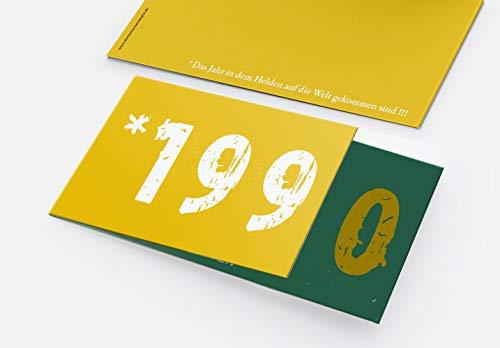 Runder Geburtstag Einladungskarten 30 Jahre Geburtstagseinladungen - Zeitsprung Einladung für runden Geburtstag 30er Feier Grün - Gelb (10)