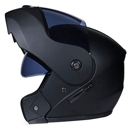 LucaSng Casco de Moto Integral con Doble Visera, Casco Moto Modular Casco de Moto Integral Scooter para Mujer Hombre Adultos Casco Integral para Motocicleta Cascosintegrales (Estilo#8, M)