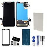 Alondy Screen Replacement for Google Pixel 2 XL 2XL (6.0') Display Digitizer Assembly Adhesive Protector Tools G2XL