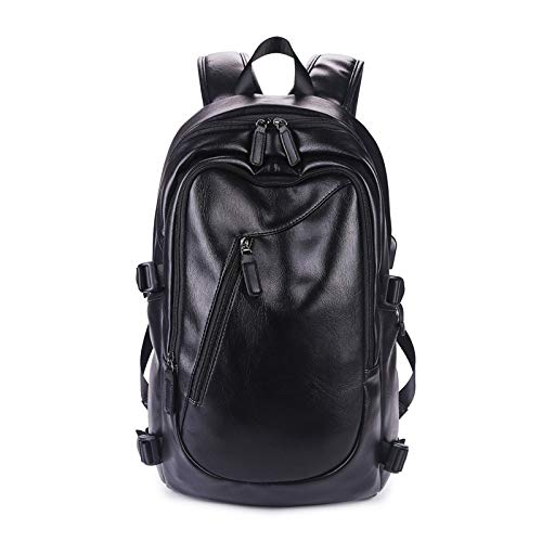 Heren rugzak reistas voor studenten mode casual schooltas grote capaciteit laptop rugzak van hoogwaardig leer merk
