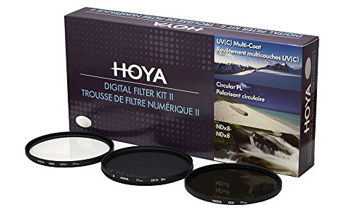 Hoya DFK67 Pack de Filtros (UV, PLC, ND, 67 mm), Negro