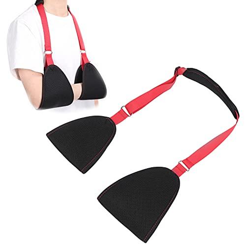 Eslinga de lona para brazo, soporte suave y ajustable con correa para la cintura, lesión de muñeca y hombro para brazos rotos y fracturados, jersey transpirable, tela ligera