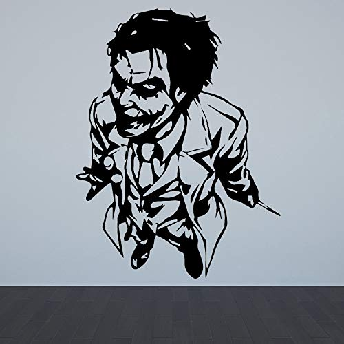 mlpnko Payaso Wall Art Sticker Decal Wall Art Mural Sala de Estar Dormitorio Decoración Sofá Fondo Wall Art Applique Accesorios 64x85cm