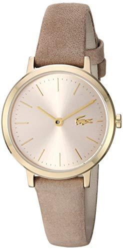 Lacoste Damen Analog Uhr Classic mit Leder Armband