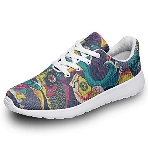 Zapatillas deportivas unisex con diseño de peces japoneses y estampado 3D, color, talla 47 EU