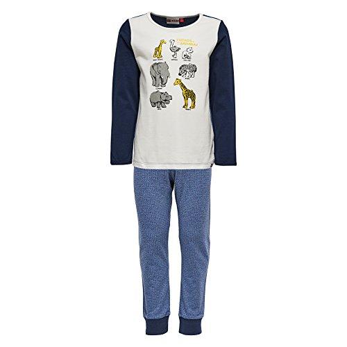 Lego Wear Jungen Lego duplo NIS 706-Schlafanzug Zweiteiliger Schlafanzug, Blau (Dark Navy 589), 86