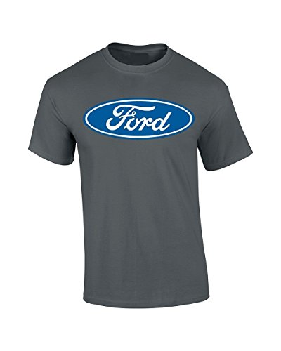 Ford Logo T-Shirt (Charcoal, Large)