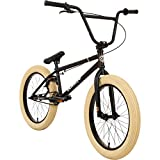 Bullseye BMX Project 501 20 Zoll Fahrrad Park Freestyle Street Bike (Schwarz/Beige)