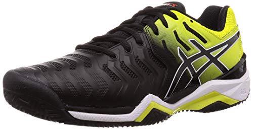 Asics Gel-Resolution 7 Clay, Zapatillas de Tenis Hombre, Multicolor (Black/Sour Yuzu 003), 46 EU