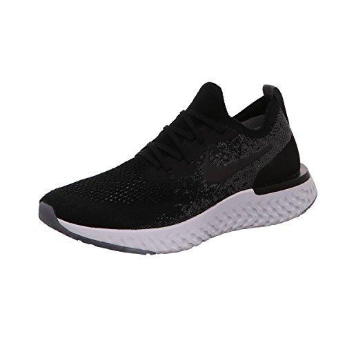 Nike Women's Epic React Flyknit Running Shoe (8, Black/Black/Dark Grey/Pure Platinum)