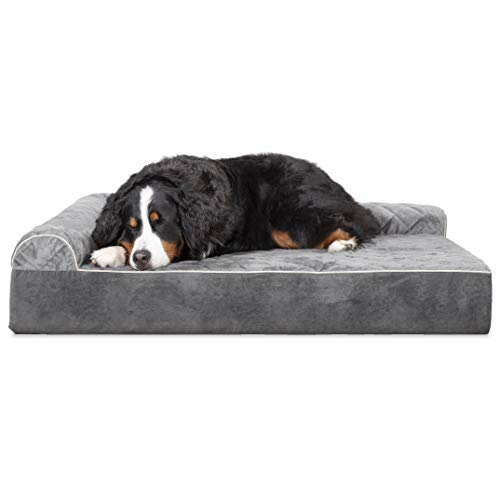 Furhaven Sofa-style Chaise Lounge Orthopedic Dog Bed