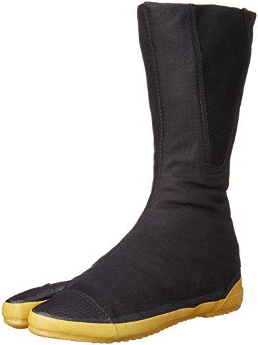 [ムーンスター] 地下足袋 ファスナー付 2E メンズ レディース 楽らく地下 ブラック JP JP25(25cm)