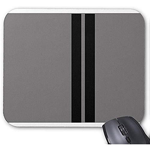 Shelby Raching Stripes Grey Mauspad 30 * 25 * 0,3 cm Mauspad Fashion Designed Mousepad Büro- und Familien-Desktop-Pad