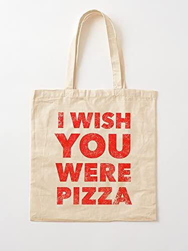 Bone Pizza Food Very Funny Humour Go Feel Humor   Bolsas de lona con asas, de algodón duradero