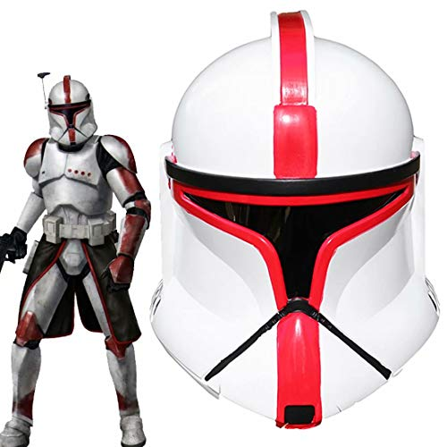 Clone Trooper Helmet Imperial Stormtrooper Full Head Helmet Mask with Electronic Voice Changer PVC Cosplay Adults