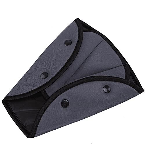 QUUPY Ajustador de cinturón de seguridad para niños y adultos, uso diario de viaje (gris)