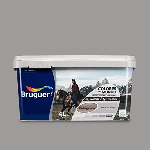 BRUGUER 5160744 Pintura PLÁSTICA Colores Mundo Patagonia Perla Nat. 4 L, Negro