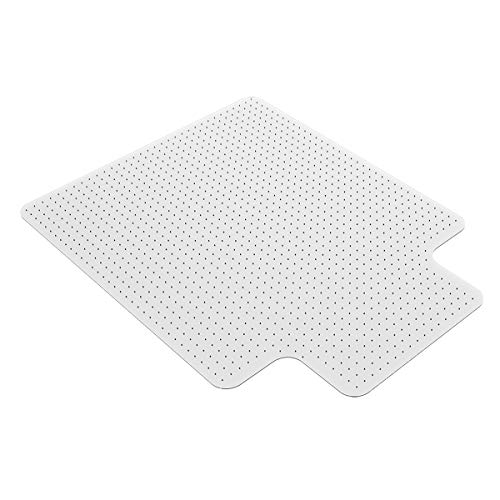 "Homek Office Chair Mat for Carpeted Floors - Clear Carpet Chair Mat with Lip 48""x 36""x 0.08"""