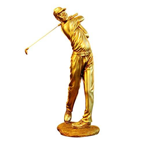 Hclshops Sculpture Ornements de caractère de Golfeur européen (Color : Female)