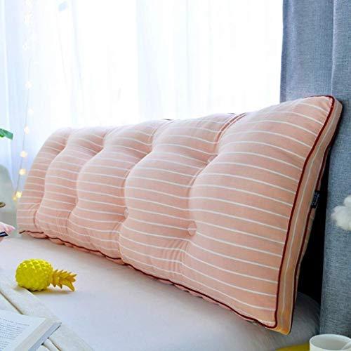 LFOZ Cojín de lectura 100% algodón, cojín extraíble suave rollo cojín para Tatami – Cojín largo mesita de noche (color: M, tamaño: 200 x 20 x 50 cm)