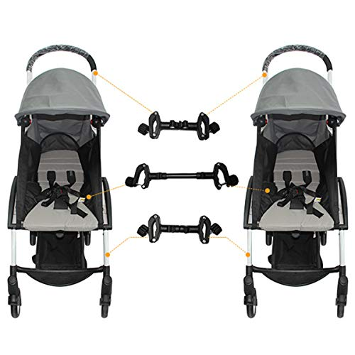 Twin Stroller Connector for Baby,Universal Baby Cart Pushchair Connectors Turns Two Single Strollers into a Double Stroller