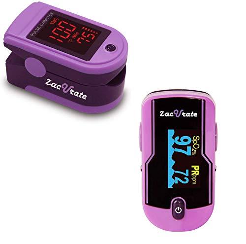 Zacurate Pro Series 500DL Fingertip Pulse Oximeter and 500E Premium Pulse Oximeter Fingertip Bundle