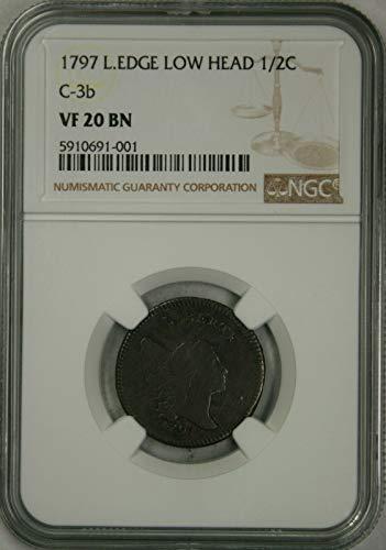 1797 Liberty Cap Half Cent 1/2C VF20 NGC