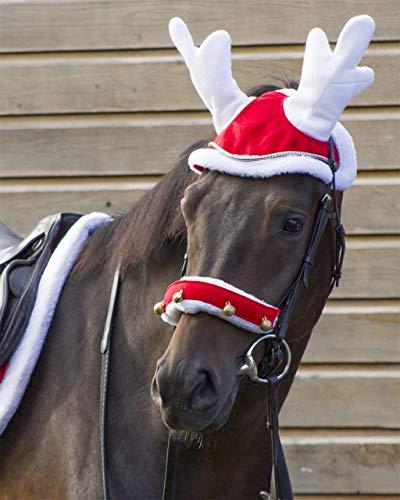 ARBO-INOX Rentierhaube Pferdeschmuck Weihnachtsschmuck für Pferde (Pony)