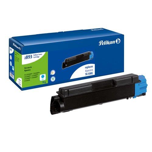 Pelikan Toner ersetzt Kyocera TK-590C (passend für Drucker Kyocera FS C5250)