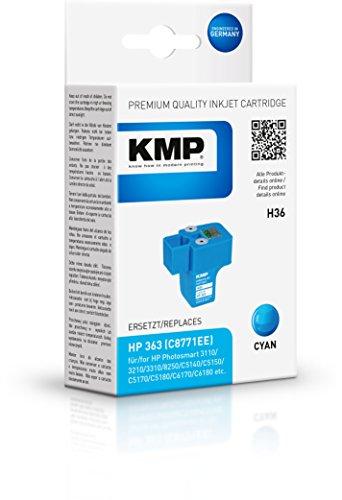KMP Tintenkartusche für HP Photosmart 8250/C8180, H36, cyan