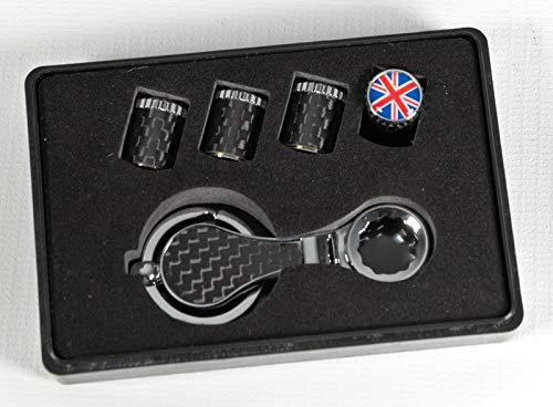 MAX AUTO CARBON Tapones de válvula de carbono para neumáticos con protección antirrobo de Inglaterra