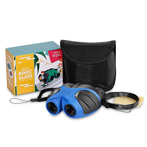 Binoculares para Niños Regalo De Cumpleaños para Niño De 4 Años, JRD & BS WINL Compacto A Prueba De Agua Binocular Regalo De Cumpleaños Chico Adolescente Boys Toys 3-12(Azul)