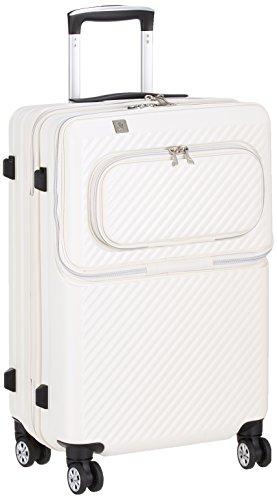 [レジェンドウォーカー] スーツケース ジッパー ハードスーツケース フロントオープン 双輪 6024-55 保証付 50L 61 cm 3.9kg アイボリー