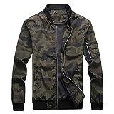 FRC0LT 2019 Men Camouflage Jackets Men Coats Camo Bomber Jacket Men Zipper Up Outwear (5XL,Army Green)