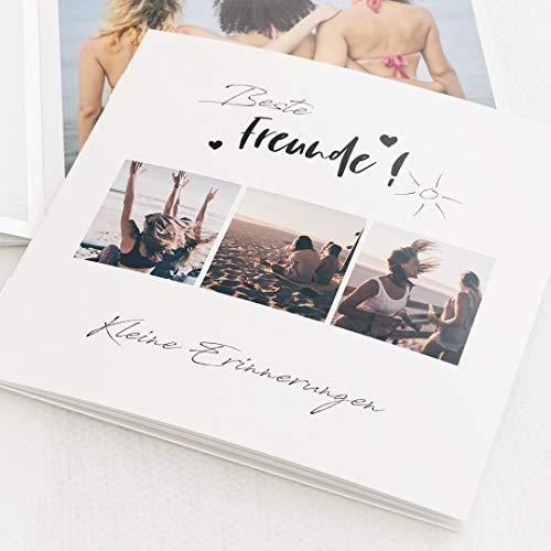 sendmoments Fotobuch Geburtstag Mini-Format Sonnig, kompakt auf 16 Seiten, im quadratischen Format, personalisiert mit Wunschbildern & -Text, Bilder-Büchlein als Erinnerung oder zum Verschenken