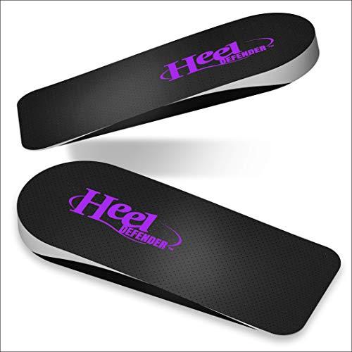 Heel Defender Heel Cups for Achilles Tendon Support | Plantar Fasciitis, Pain Relief Orthotics, Heel Inserts, Heel Cushions, Heel Cups for Men, Heel Cups for Women, Comfort Medium