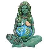 Holmeey Madre Terra Ornamento, Stile di Vita e più Moderno Scultura Deco fitine Figurine Paio, dea Statua poliresina Decorativa Decorazione Decorativa per la casa Giardino