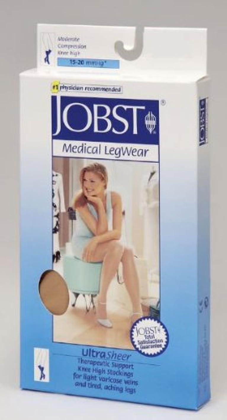 みなすタブレット囲むJobst 119407 Ultrasheer Closed Toe Knee Highs 15-20 mmHg - Size & Color- Suntan Large by Jobst