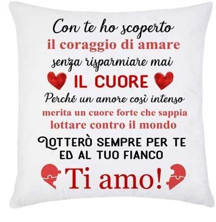 Gattablu Federa per Cuscino Un Amore Intenso, lotterò per Te! Ti Amo! Idea Regalo per Lui e lei,...