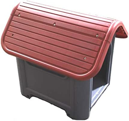 new arrival DollarItemDirect Plastic online sale Dog House - Red 29.13 x 22.44 x 25.98 sale Inch online