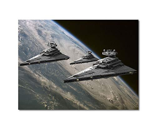 SSKJTC Wanddekoration Poster Star Wars Star Destroyer Leinwand Home Artwork Dekoration Abstrakt 30,5 x 22,3 cm