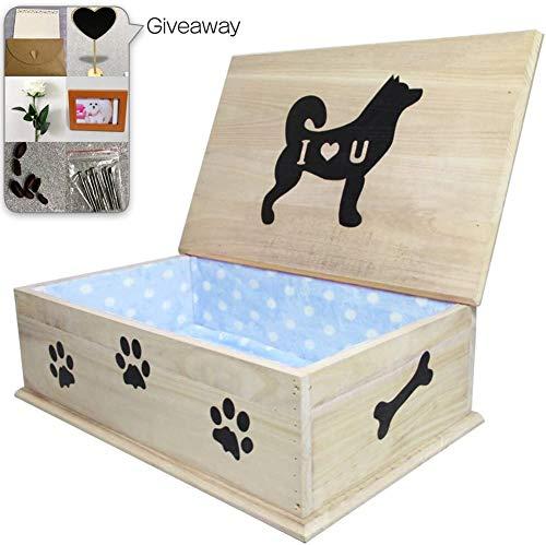 ASDFGHJKL Ataúd De Madera para Mascotas, Perro Ataúd Funeral Y El Entierro del Ataúd para Mascotas Caja De Entierro para Perros Gatos Otros Animales
