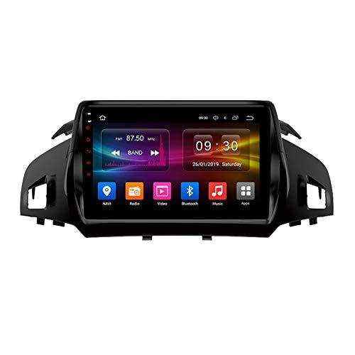 TypeBuilt Autoradio GPS Navigazione Music 9' 1080P HD Touch Multimedia per Ford Kuga 2 Escape 3 2012-2019,Stereo Auto Bluetooth Chiamate in Vivavoce Radio con Lettore USB FM AM RDS Stereo,Px5