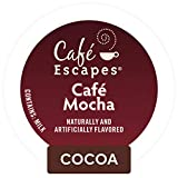 Cafe Escapes, Cafe Mocha Coffee Beverage, Single-Serve Keurig K-Cup Pods, 72 Count (3 Boxes of 24...