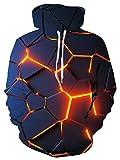 alisister felpa con cappuccio unisex 3d geometria stampe natalizio hoodie gioventù adulti casaul felpe da festa sportiva per uomo donna s