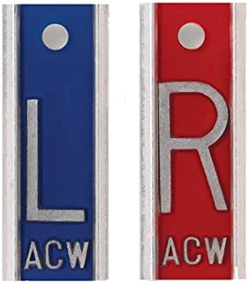 """Aluminum X-Ray Markers - Blue/Red, Left & Right Set,""""L"""" &""""R"""" - 1"""""""