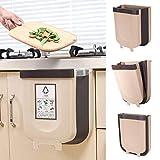 Faltbarer Mülleimer Küche, Abfalleimer Küche Faltbare Abfalleimer, 9L /5L Aufhängbaren Abfallbehälter Für Schranktür Küche - Neue Generation