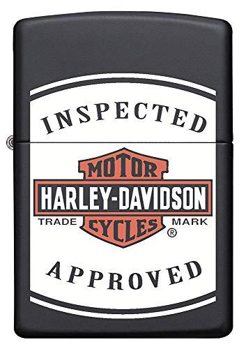 Zippo Harley Davidson, accendino a benzina nero opaco, ricaricabile, in confezione regalo di alta qualità, codice articolo 60005591