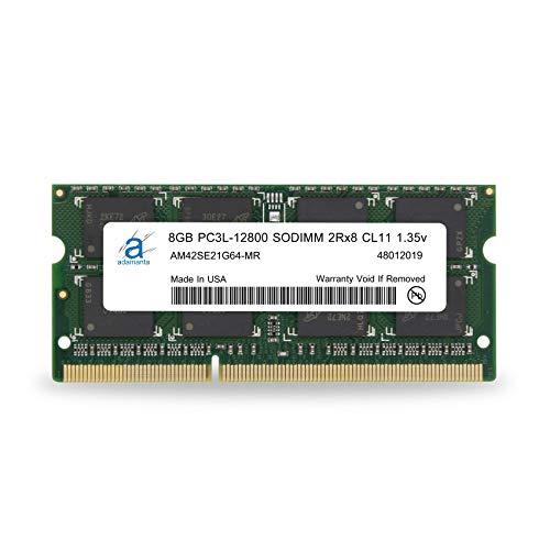 Adamanta 8GB (1x8GB) Laptop Memory Upgrade DDR3/DDR3L 1600Mhz PC3L-12800 SODIMM 2Rx8 CL11 1.35v Notebook RAM DRAM